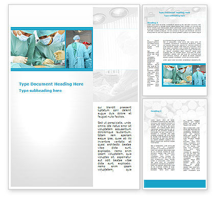 Vascular Surgery Word Template, 08802, Medical — PoweredTemplate.com