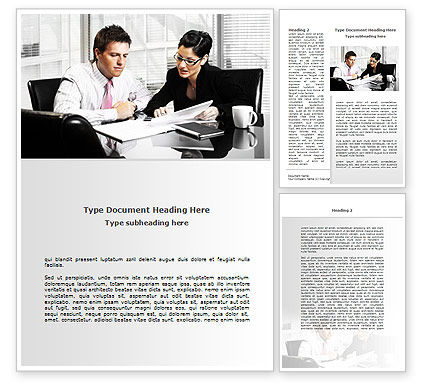 Business: Business Consulting Meeting Word Template #08815
