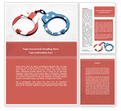 Legal: US Criminal Law Word Template #08816