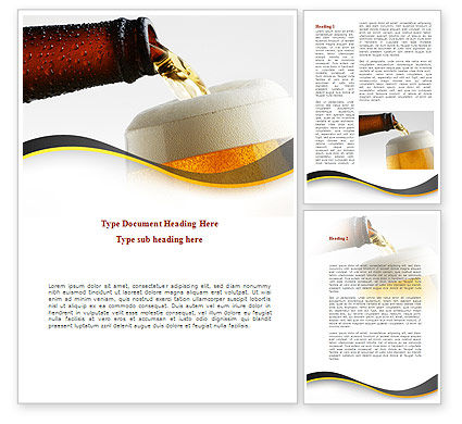 Food & Beverage: Beer Bottle Word Template #08825