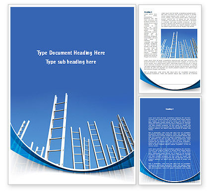 Ladder Up Word Template, 08826, Careers/Industry — PoweredTemplate.com