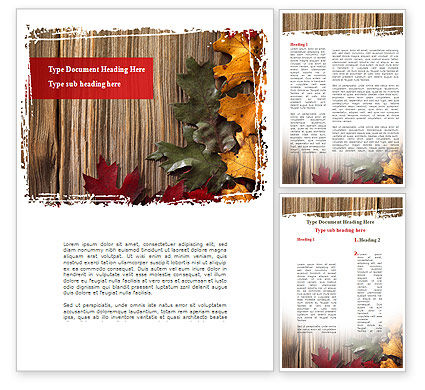 Nature & Environment: Leaf Litter Word Template #08827