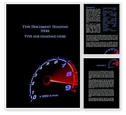 Tachometer Word Template, 08828, Cars/Transportation — PoweredTemplate.com