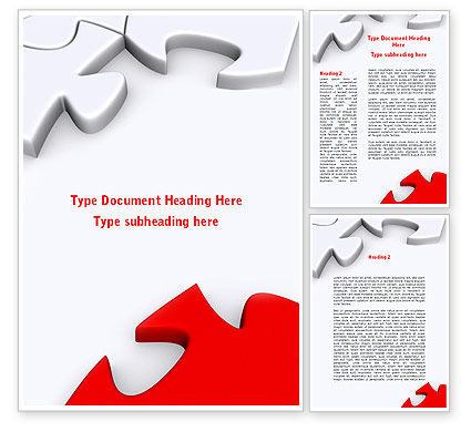 Business Concepts: Puzzle Parts Folding Word Template #08829