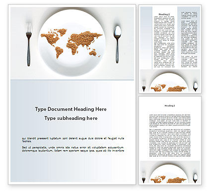 World Wide Food Market Word Template, 08834, Food & Beverage — PoweredTemplate.com