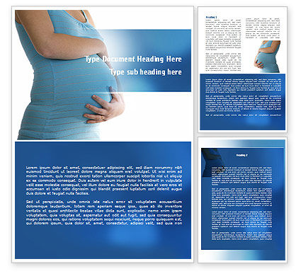 Medical: Pregnant Woman Word Template #08837