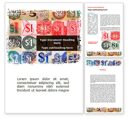 Dollar Banknotes Word Template