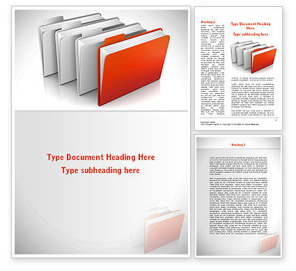 Folders Word Template, 08842, Careers/Industry — PoweredTemplate.com
