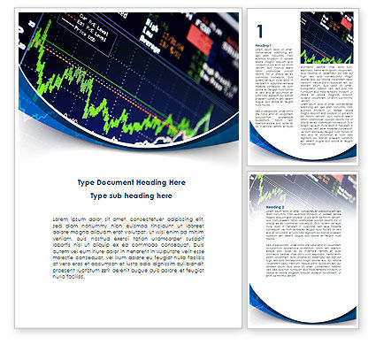 Stock Market Rates Word Template, 08846, Financial/Accounting — PoweredTemplate.com