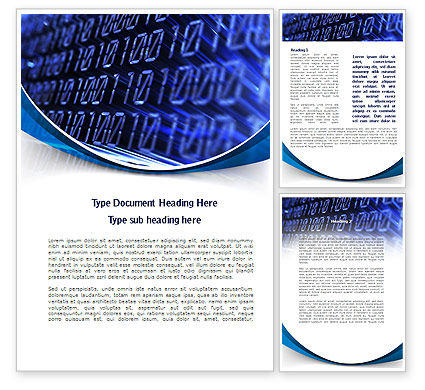 Technology, Science & Computers: Digital Matrix Word Template #08849