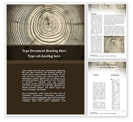 Consulting: Wooden Growth Rings Word Template #08853