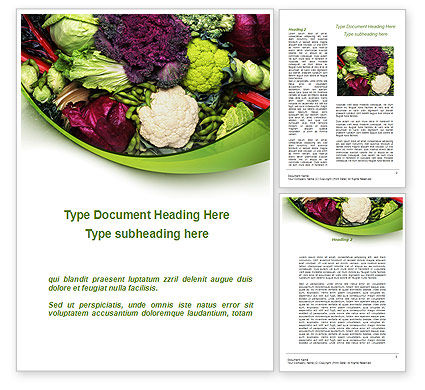 Cabbage Word Template, 08858, Agriculture and Animals — PoweredTemplate.com