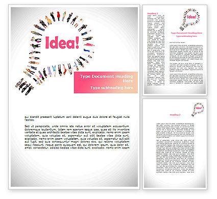 Women's Idea Word Template, 08866, Business Concepts — PoweredTemplate.com