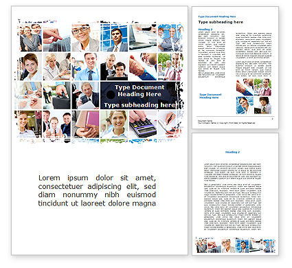 Business: Business Staff Word Template #08870