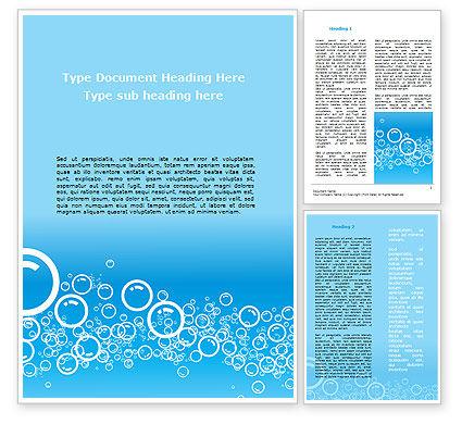 Abstract/Textures: Aqua Bubble Word Template #08872