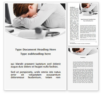 Tiredness Word Template, 08873, People — PoweredTemplate.com