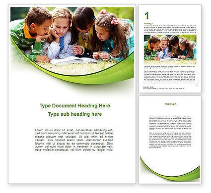 Education & Training: 儿童读书Word模板 #08875