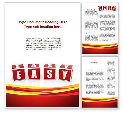 Easy Word Template, 08879, 3D — PoweredTemplate.com