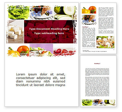Food & Beverage: Chicken Salad Word Template #08889