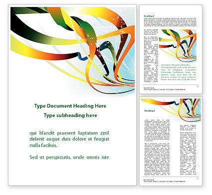 Abstract/Textures: Modèle Word de rayons vert orange orange abstrait #08893