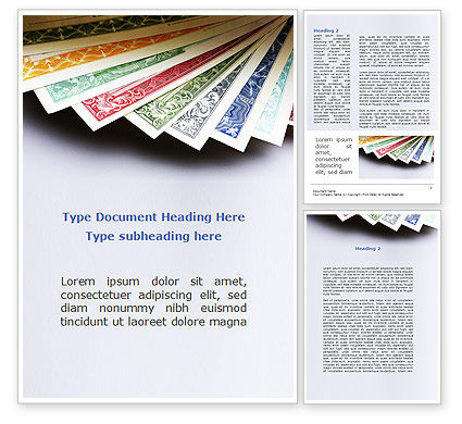 Dollar Certificate Word Template, 08894, Financial/Accounting — PoweredTemplate.com