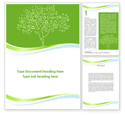 Painted Tree Word Template, 08897, Nature & Environment — PoweredTemplate.com