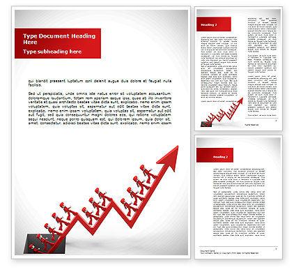 Business Concepts: Modèle Word de augmentation de l'entreprise #08900
