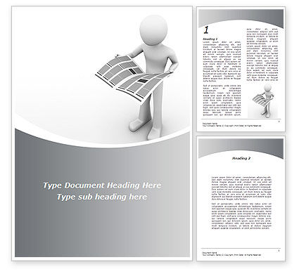 Careers/Industry: Hot News Word Template #08902