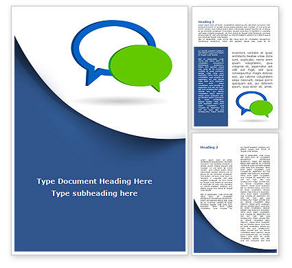 Telecommunication: Chatting Bubbles Word Template #08904