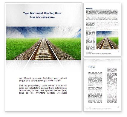 Rails Word Template, 08909, Business Concepts — PoweredTemplate.com