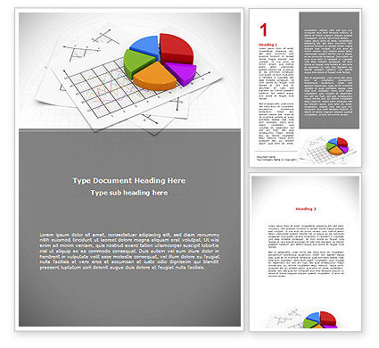 Pie Diagram Word Template, 08910, Financial/Accounting — PoweredTemplate.com