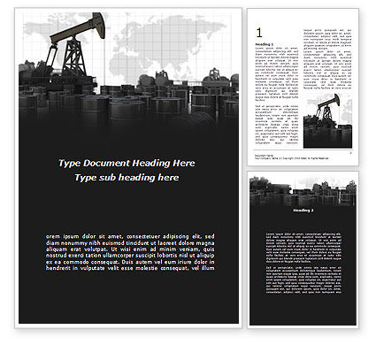 Utilities/Industrial: Oil Pump Word Template #08911