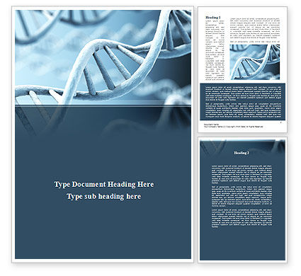 Medical: Dna Microfotografie Word Template #08912