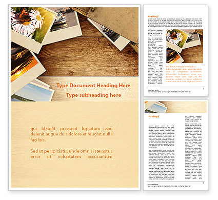 Careers/Industry: Summer Memories Photo Word Template #08915
