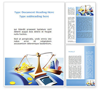 Legal: Legal Support Of Real Estate Word Template #08917