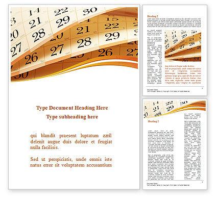 Business: Calendar Word Template #08921