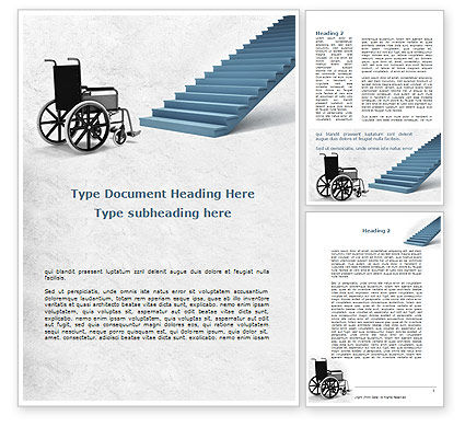 Wheel Chair Word Template, 08922, Religious/Spiritual — PoweredTemplate.com