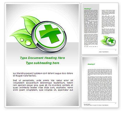 Herbal Pharmacy Word Template, 08925, Medical — PoweredTemplate.com