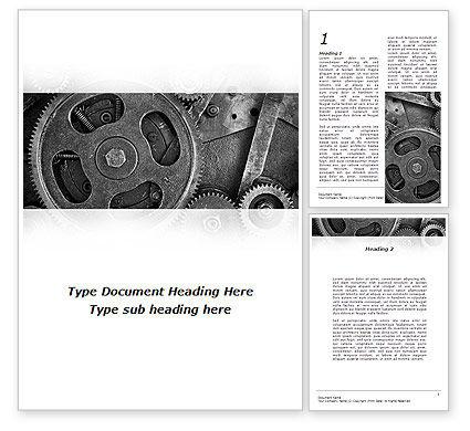 Cog Wheels Word Template, 08934, Utilities/Industrial — PoweredTemplate.com
