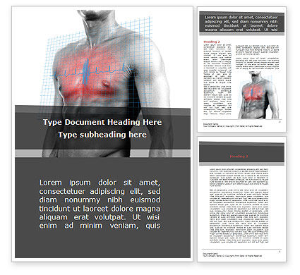Heart Attack Word Template, 08936, Medical — PoweredTemplate.com