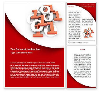Binary Word Template, 08938, Technology, Science & Computers — PoweredTemplate.com