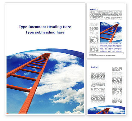 Ladder to Sky Word Template, 08940, Consulting — PoweredTemplate.com