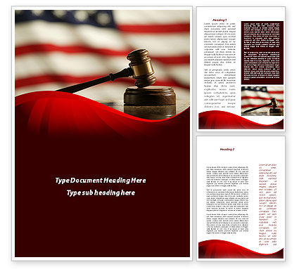 Legal: Justice and Court Word Template #08943