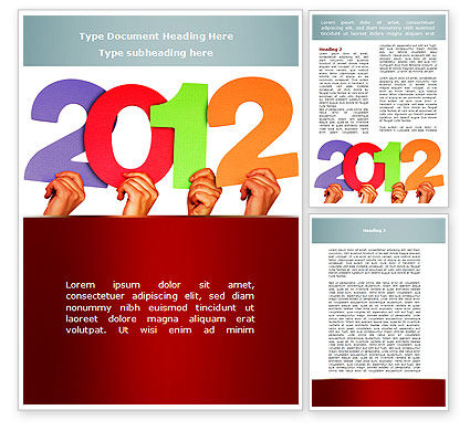 2012 Word Template, 08946, Holiday/Special Occasion — PoweredTemplate.com