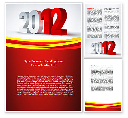 2012 Year Word Template, 08947, Business — PoweredTemplate.com
