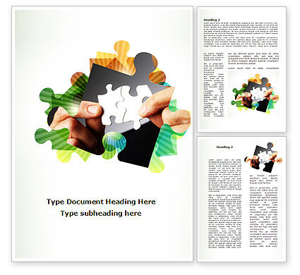 Addition Of A Puzzle Word Template, 08949, Consulting — PoweredTemplate.com