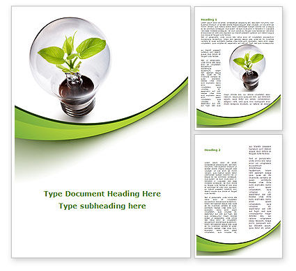 Nature & Environment: 可再生绿色能源Word模板 #08950