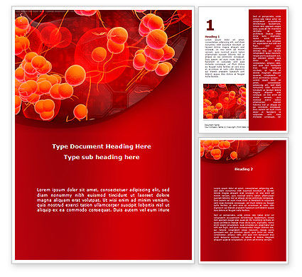 Medical: Blood Cells Word Template #08953