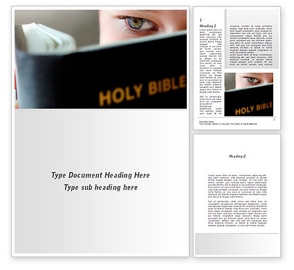 Religious/Spiritual: Holy Bible Study Word Template #08961