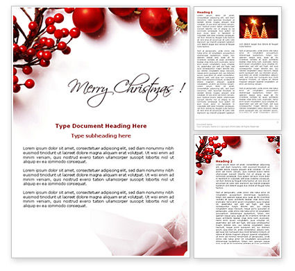 Holiday/Special Occasion: Rowanberry Word Template #08966